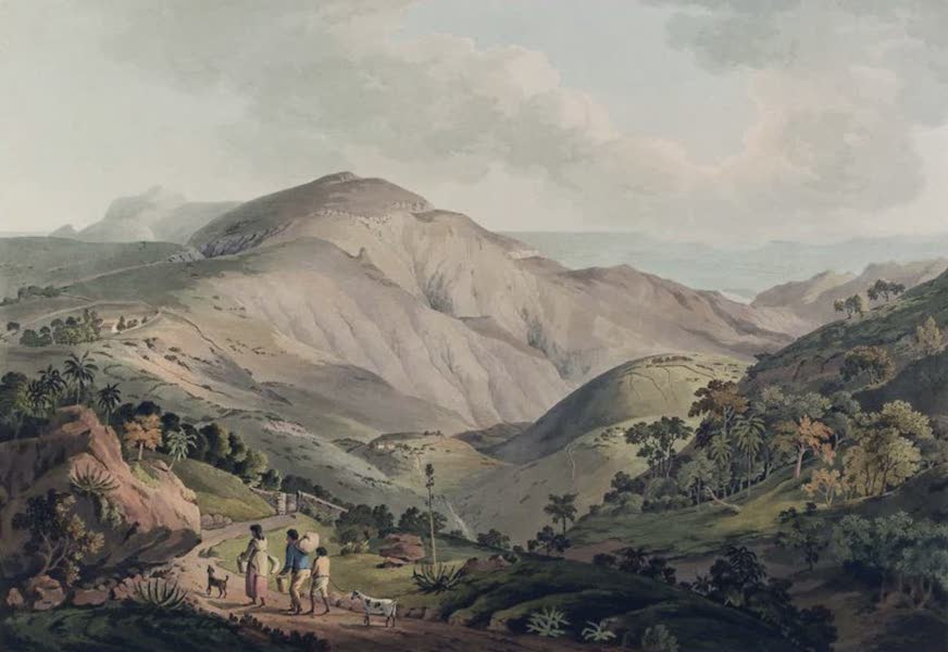 Twenty-Four Views Taken in St. Helena, the Cape, India, Ceylon, Abyssinia, and Egypt - Sandy Bay Valley in the island of St. Helena (1809)