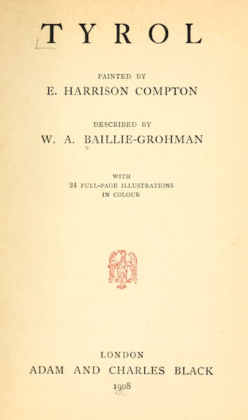 Tyrol, Painted and Described - Title Page (1908)