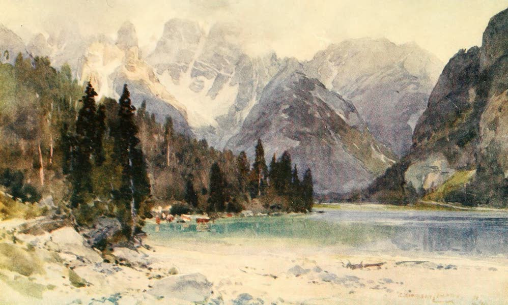 Tyrol, Painted and Described - Durrensee and Monte Cristallo (1908)