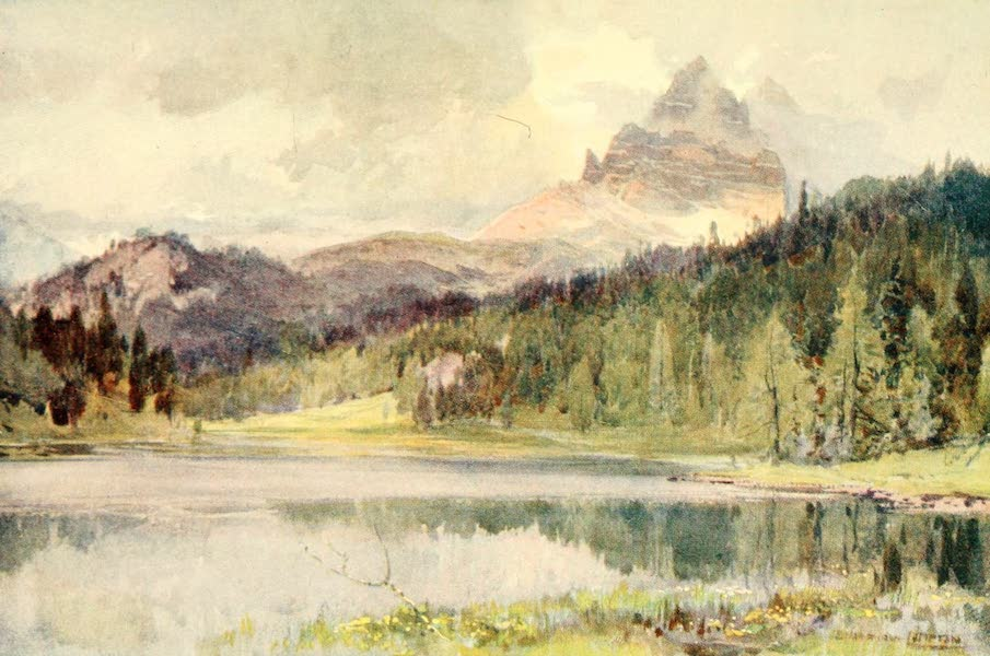Tyrol, Painted and Described - Misurinasee and Drei Zinnen (1908)
