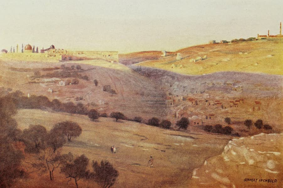 Under the Syrian Sun Vol. 2 - Jerusalem and the Mount of Olives - Sunset (1907)