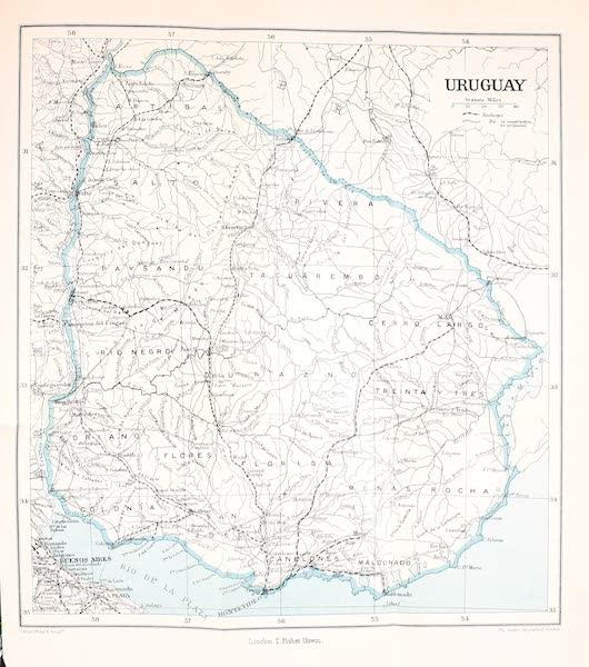 Uruguay by W. H. Koebel - Uruguay Map (1911)