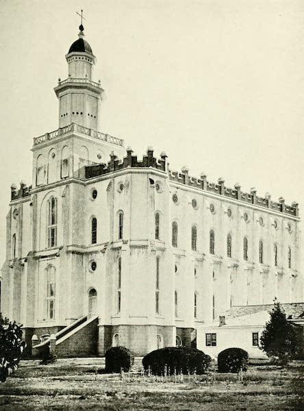 Utah, the Land of Blossoming Valleys - Mormon Temple, St. George (1922)