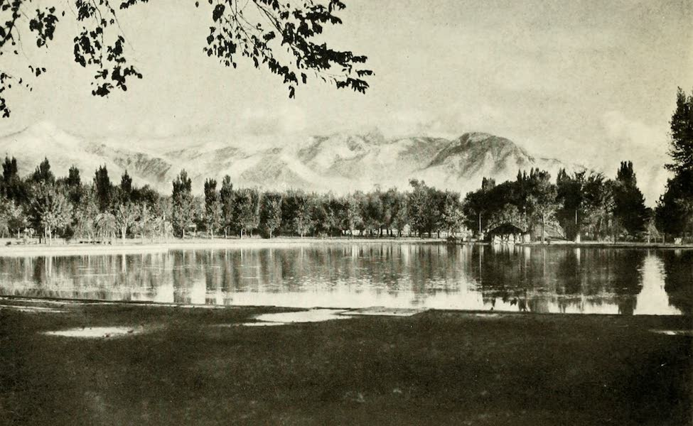 Utah, the Land of Blossoming Valleys - Wasatch Mountains from Liberty Park, Salt Lake City (1922)
