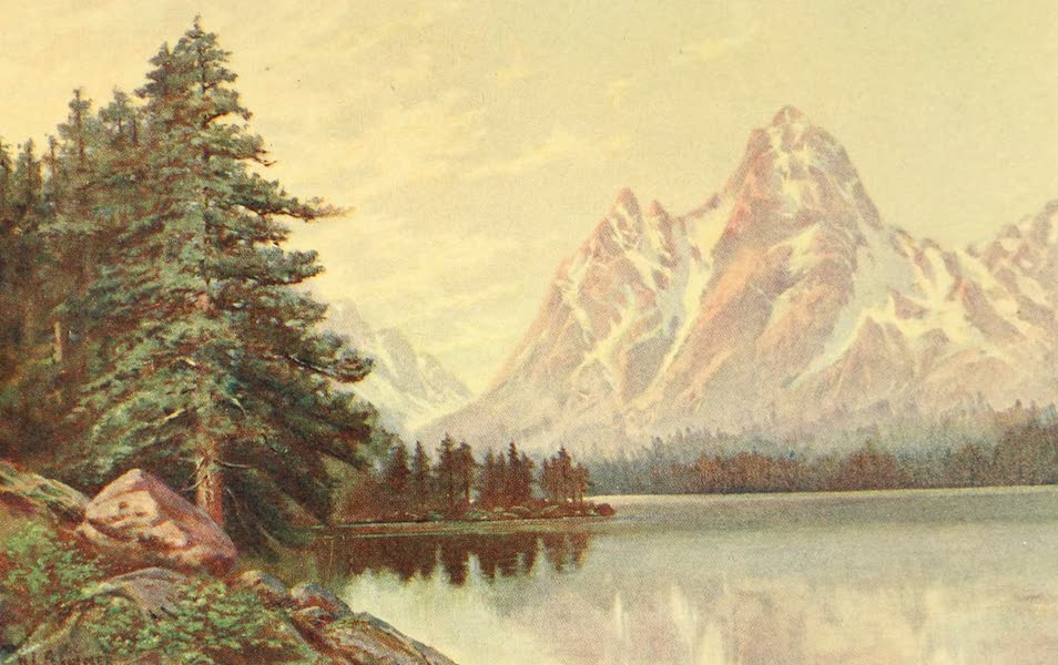 Utah, the Land of Blossoming Valleys - A Glacial Lake in the Wasatch Range (1922)
