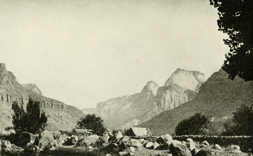Utah, the Land of Blossoming Valleys - Entrance to Zion Canyon (1922)