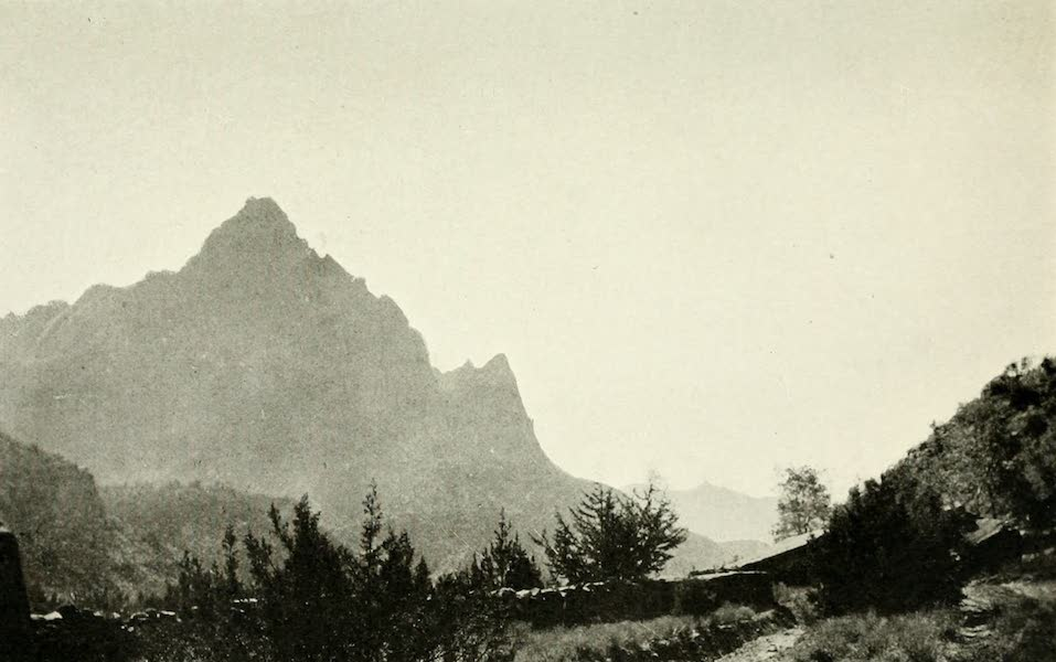 Utah, the Land of Blossoming Valleys - The Guardian, Looking Down Zion Canyon (1922)