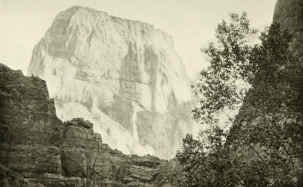 Utah, the Land of Blossoming Valleys - The Great White Throne, Zion Canyon (1922)