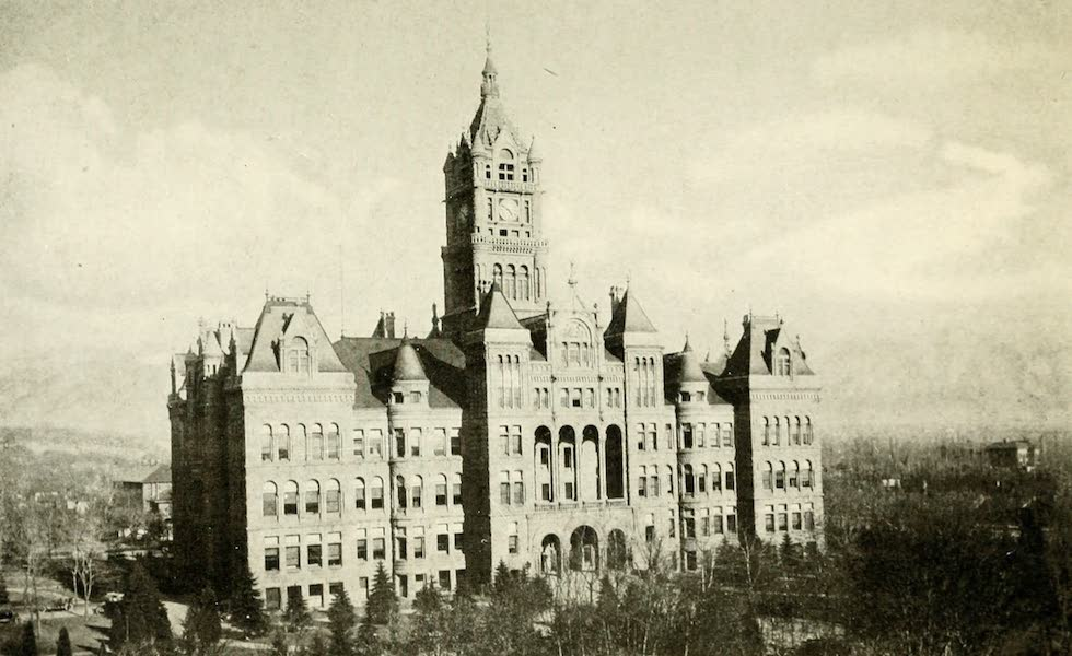 Utah, the Land of Blossoming Valleys - City and County Building, Salt Lake City (1922)