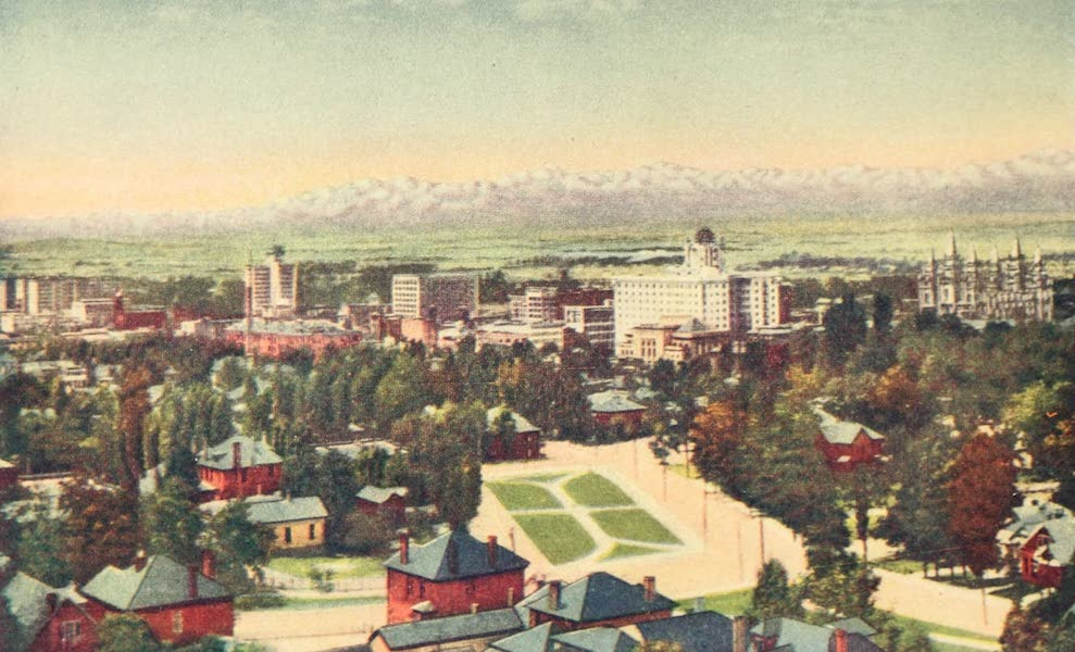 Utah, the Land of Blossoming Valleys - General View of Salt Lake City (1922)