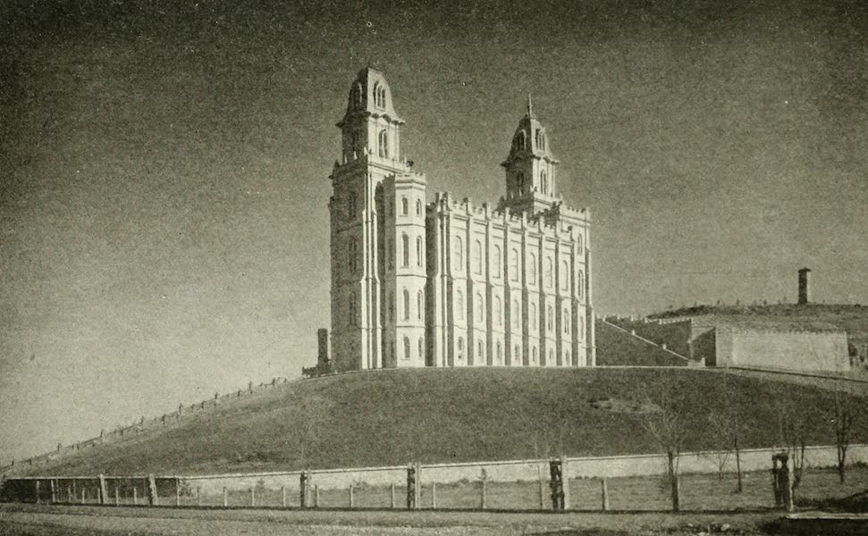 Utah, the Land of Blossoming Valleys - Mormon Temple, Manti (1922)
