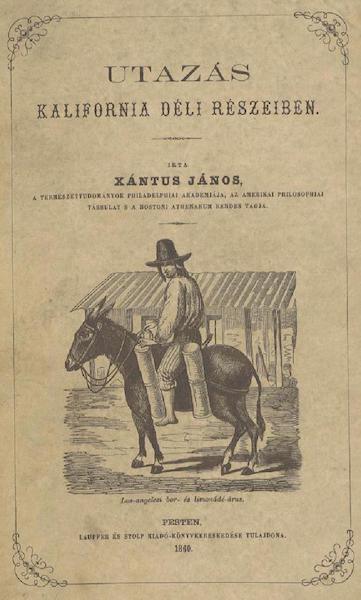 Utazas Kalifornia deli Reszeiben - Front Cover (1860)