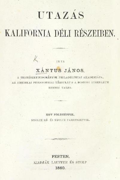 Utazas Kalifornia deli Reszeiben - Title Page (1860)