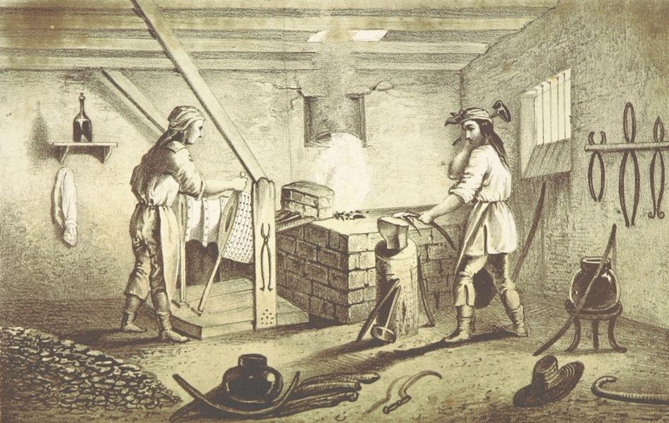 Utazas Kalifornia deli Reszeiben - Indian kovacsmuhely (San Fernando. Deli Kalifornia) (1860)