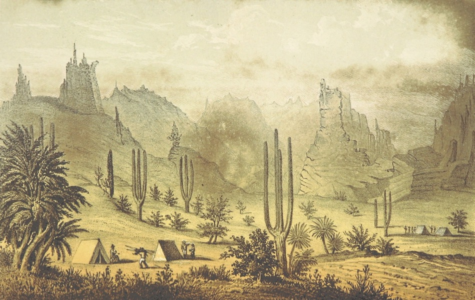 Utazas Kalifornia deli Reszeiben - Eji tanyank. Timpa es Todos Santos cost (Kaliforniai felsziget) (1860)