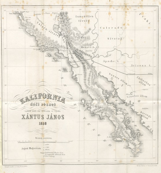 Utazas Kalifornia deli Reszeiben - Kalifornia Deli Reszet - 1858 (1860)