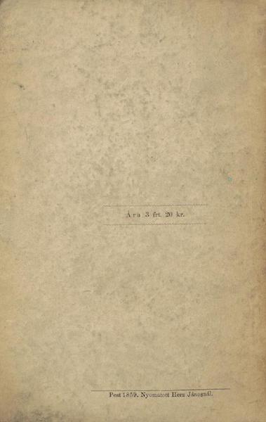 Utazas Kalifornia deli Reszeiben - Back Cover (1860)