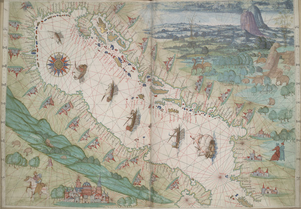 Vallard Atlas - Adriatic Sea (1547)