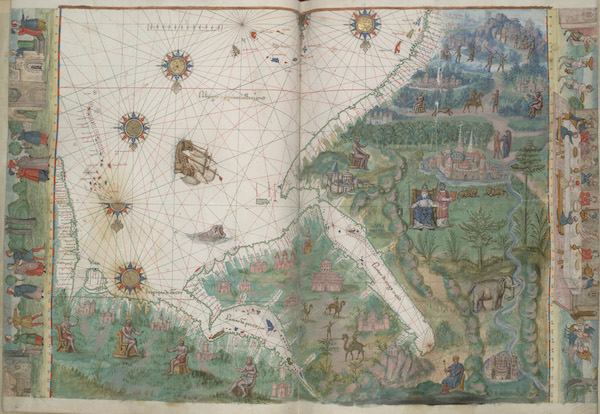 Vallard Atlas - Arabian Sea, Red Sea, and Persian Gulf (1547)