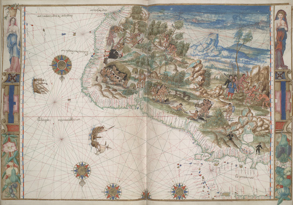 Vallard Atlas - Northeastern South America (1547)