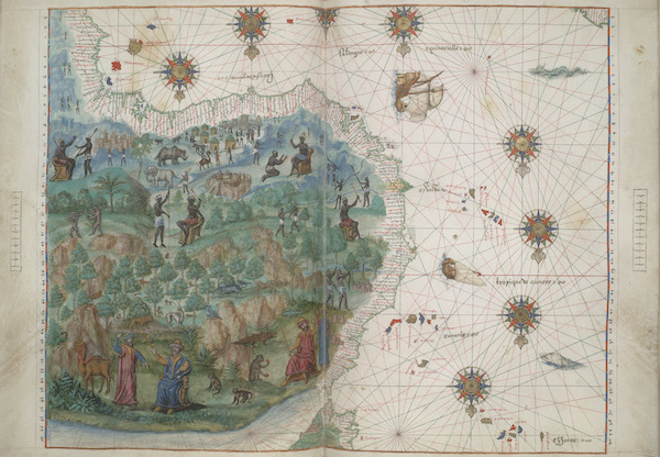Vallard Atlas - Northwest Africa (1547)