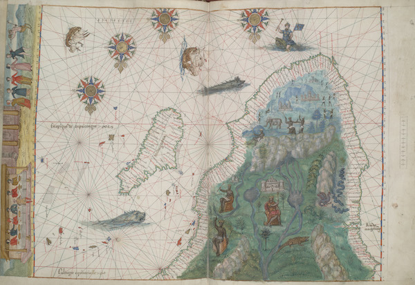 Vallard Atlas - Southern Africa and Southwest Indian Ocean (1547)