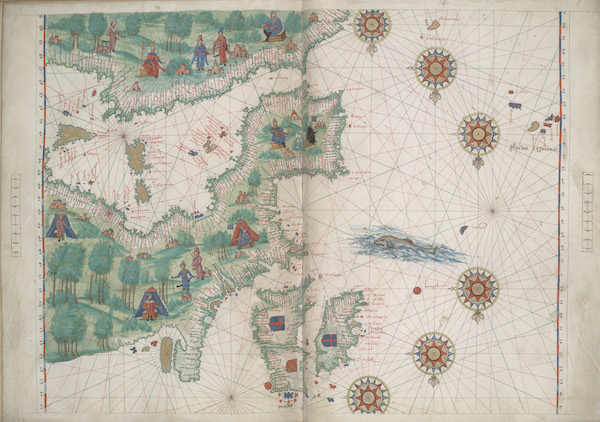 Vallard Atlas - Western Europe and northwestern Africa (1547)