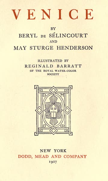 Venice - Title Page (1907)
