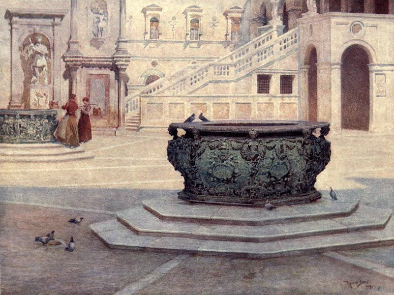 Venice - Courtyard of the Palazzo Ducale (1907)