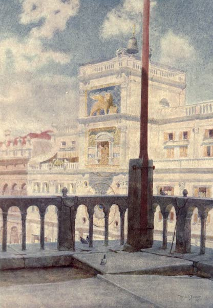 Venice - The Clock Tower from Gallery of San Marco (1907)
