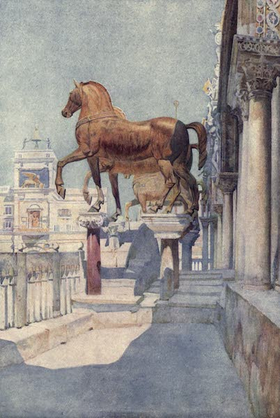Venice - The Horses of San Marco, looking North (1907)
