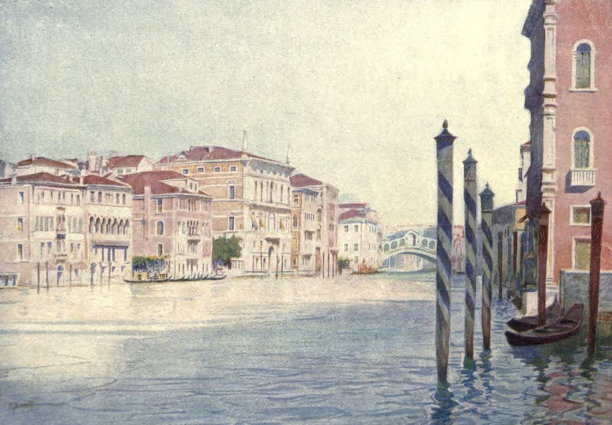 Venice - View on the Grand Canal from San Angelo (1907)