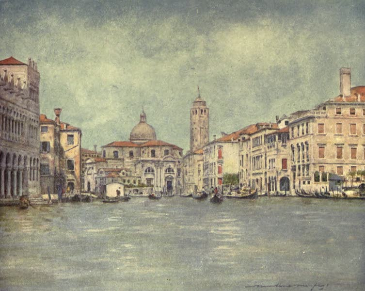 Venice, by Mortimer Menpes - Grand Canal, showing Tower of St. Geremia (1904)