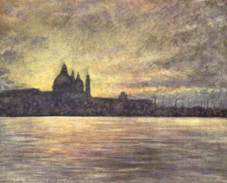 Venice, by Mortimer Menpes - The Salute at Sunset (1904)