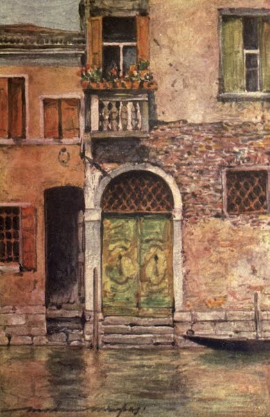 Venice, by Mortimer Menpes - A Ruined Palazzo (1904)