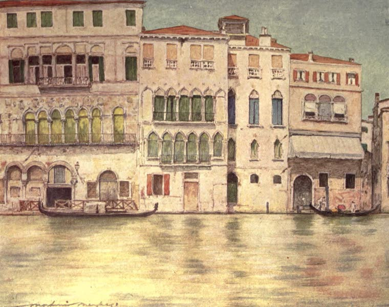 Venice, by Mortimer Menpes - Palazzi on the Canal (1904)