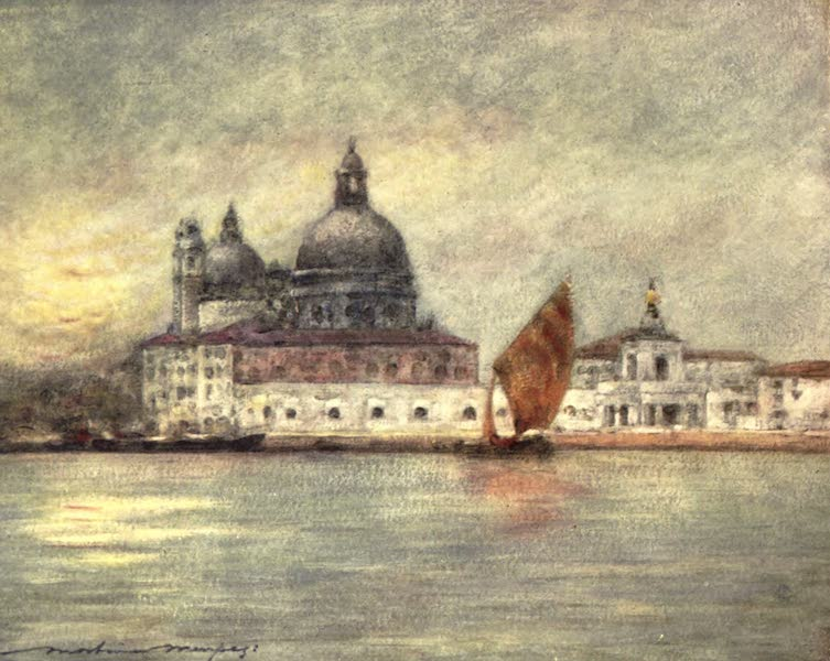Venice, by Mortimer Menpes - The Custom House and Church of Santa Maria della Salute (1904)