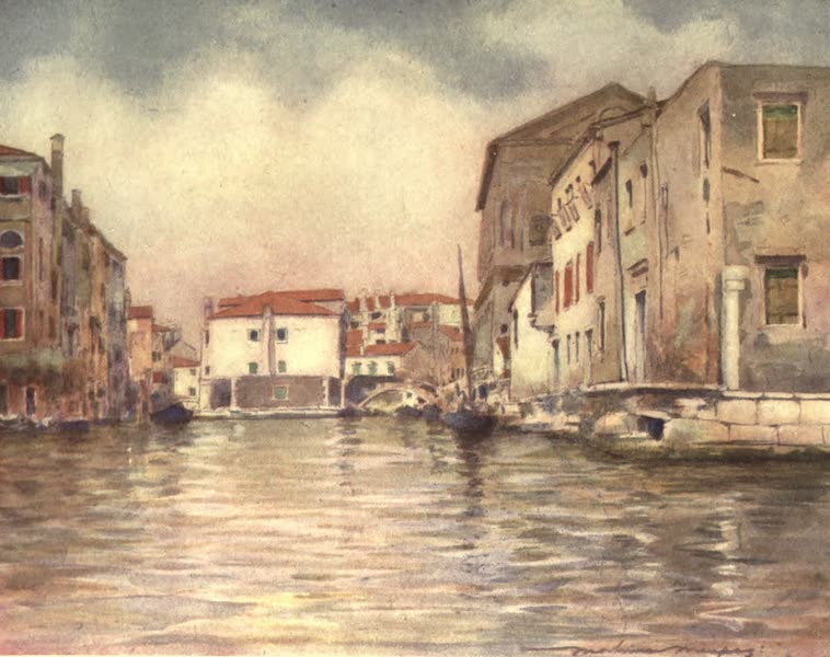 Venice, by Mortimer Menpes - At Chioggia (1904)