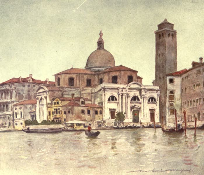 Venice, by Mortimer Menpes - Church of San Geremia (1904)