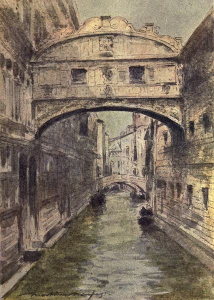 Venice, by Mortimer Menpes - The Bridge of Sighs (1904)
