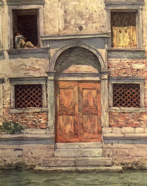 Venice, by Mortimer Menpes - The Orange Door (1904)