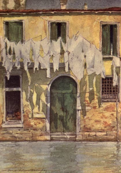 Venice, by Mortimer Menpes - An Unfrequented Canal (1904)
