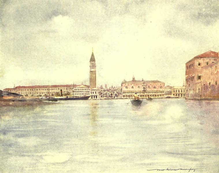 Venice, by Mortimer Menpes - St. Mark's Basin (1904)