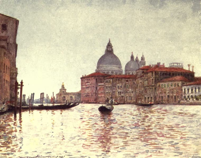Venice, by Mortimer Menpes - Grand Canal looking towards the Dogana (1904)