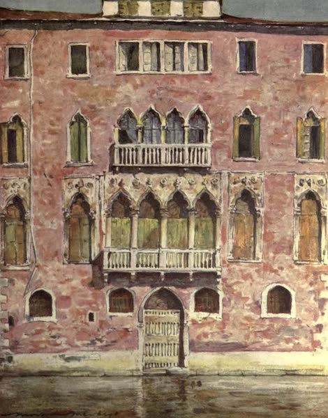 Venice, by Mortimer Menpes - A Famous Palazzo (1904)
