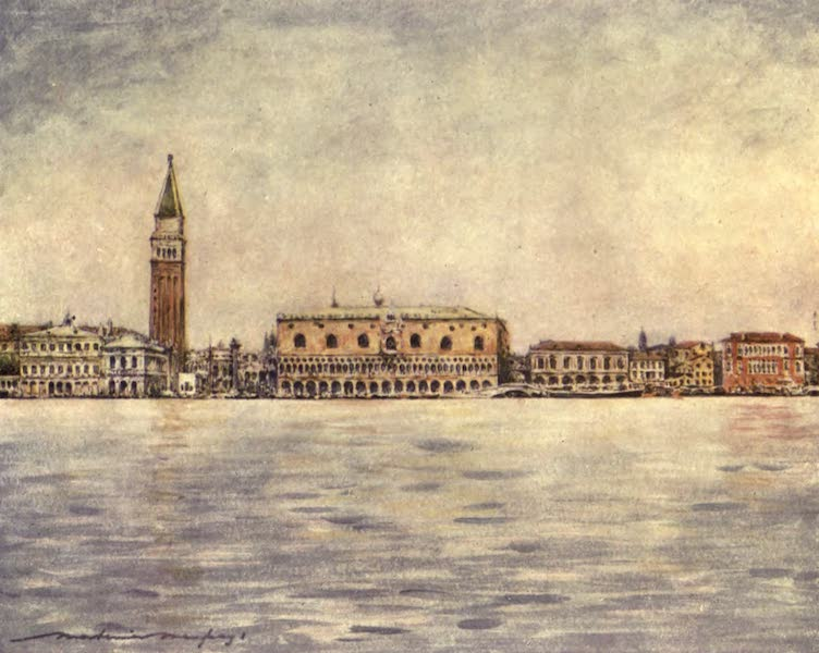 Venice, by Mortimer Menpes - Panorama seen from St. Mark's Basin (1904)