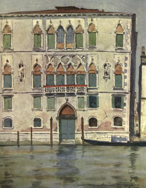 Venice, by Mortimer Menpes - Palazzo Contarini degli Scrigni (1904)