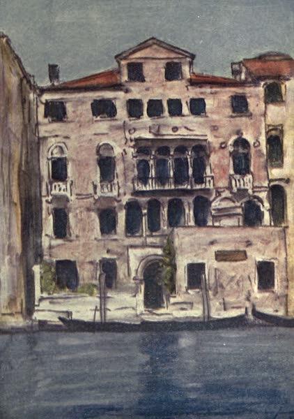 Venice, by Mortimer Menpes - Palazzo Mengaldo (1904)