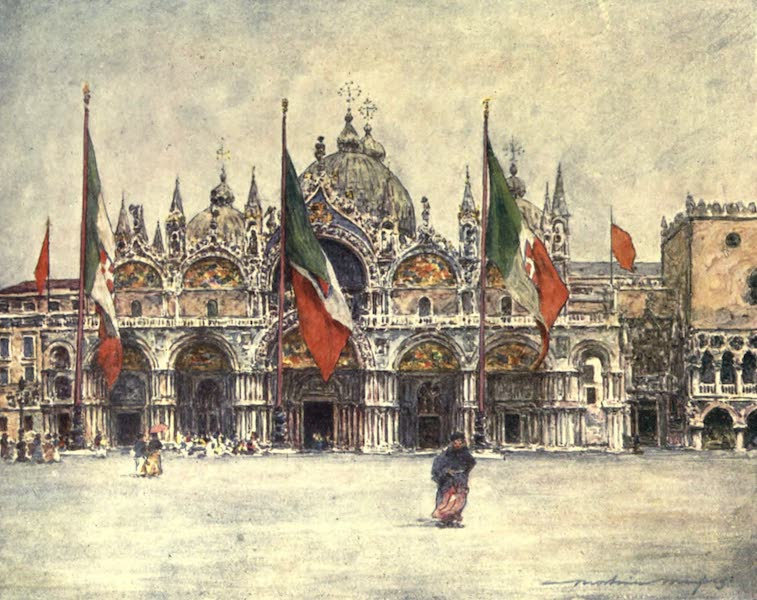 Venice, by Mortimer Menpes - St. Mark's (1904)