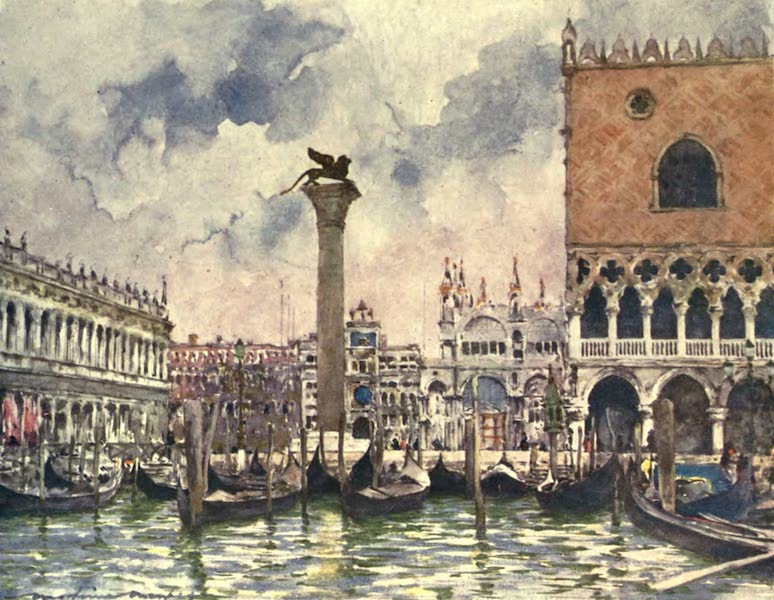 Venice, by Mortimer Menpes - St. Mark's Piazza (1904)